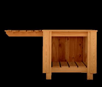 Onderstel 3 zijden met natuursteen zijblad